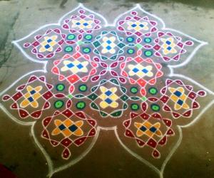 Rangoli: Sikku Kolam For Contest - Jasree