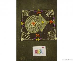 Mandana style for Diwali rangoli dublin 2010