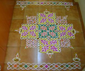 MARGAZHI DEW DROPS KOLAM FOR CONTEST