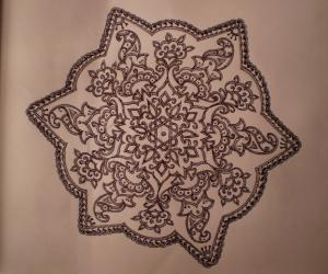 rangoli with mehandi design