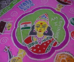 Concept Rangoli-Is India shining? - pic 2