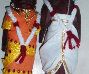 Rangoli: Marapachi doll for contest