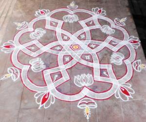 Rangoli:  special Diwali wish kolam to ikolamites
