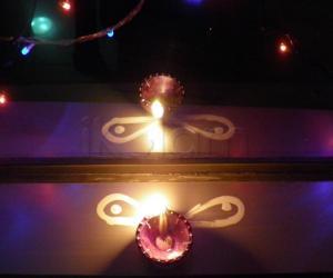 Rangoli: Diwali diya