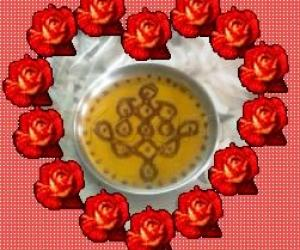 aarti plate with border