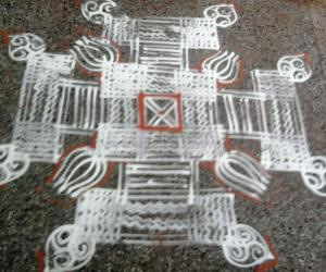 Rangoli: Navratri kolam