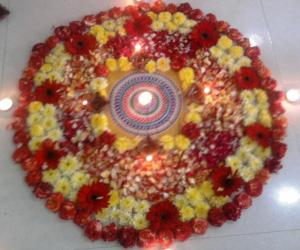 flower kolam for Diwali contest