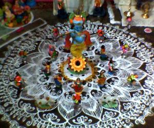 Rangoli: my kolu