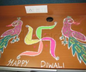 Rangoli: office desk