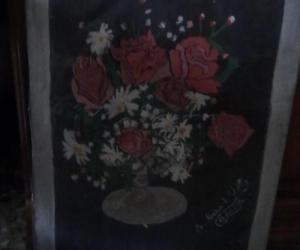 Rangoli: Painting of flower pot