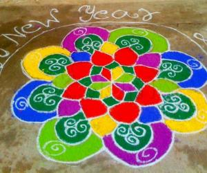 New year rangoli - 2011