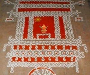 Rangoli: Rathasapthami Chariot Kolam