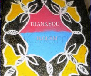 Rangoli: THANKSGIVING KOLAM