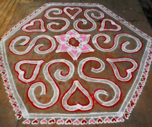 Rangoli: VALENTINE DAY SPL KOLAM-2