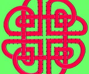 Rangoli: Celtic Hearts knot