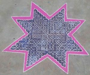 chikku kolam and dot pattern for contest