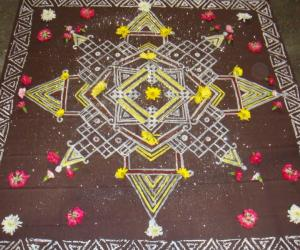 Chowkpurana or Padi kolam painting