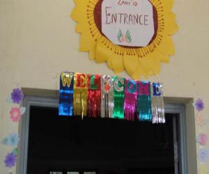 Rangoli: Entrance decoration for Exhibition