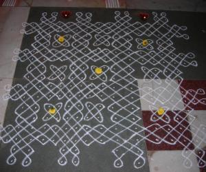 Rangoli: margazhi rangoli contest-2011(without colouring)