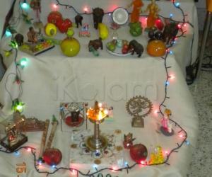 Rangoli: Simple golu at my place