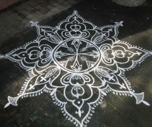 Rangoli: Happy b'day Ikolam