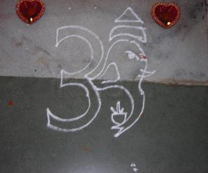 Rangoli: apartment kolam