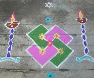 Rangoli: colors