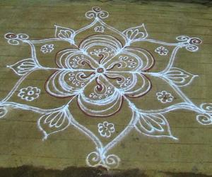 Rangoli: navrathri kolam 4