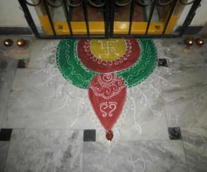 Rangoli: Rangoli @ entrance