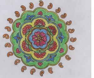 Rangoli: freehand rangoli on paper