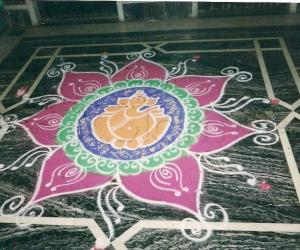 Rangoli: kolam for ganesha festival