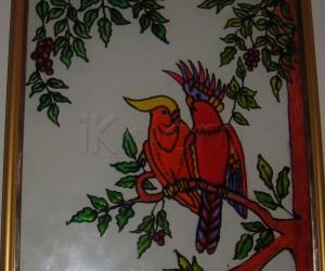 Rangoli: stain glass painting