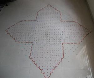 Rangoli: chikku kolam entry - dots