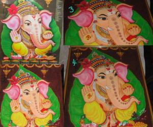 Rangoli: Vinayagar frame work