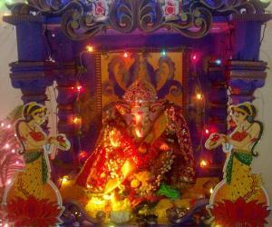 Rangoli: Ganapati decoration