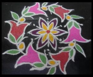 My small kitchen top kolam