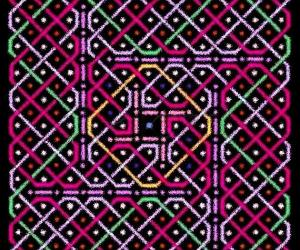 A rangOli with 1 to 21 to 1 dots or 11x11 dots - 2