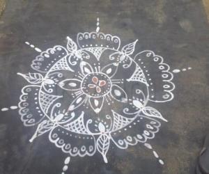 Rangoli: 25-4-11 creation