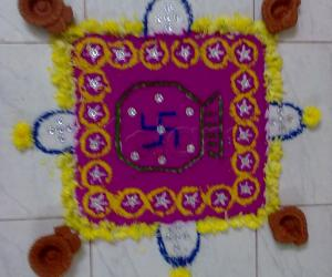 Rangoli: pooja rangoli