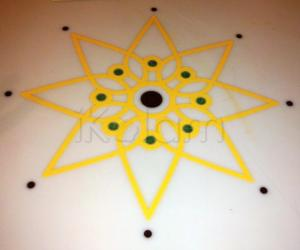 Rangoli: Table Top design