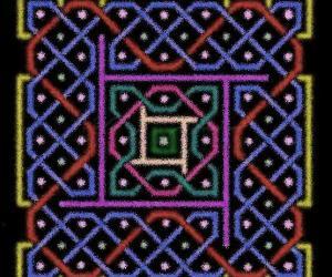 Another 85 dot kOlam - 7x7 - 2