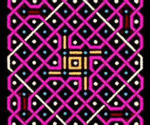 Rangoli: 85 dot kOlam or 7x7 - 3