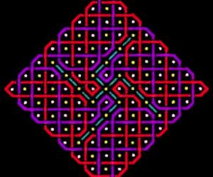 A rangOli with 1 to 15 dots or 8x8 dots
