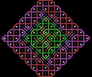 rangOli with 1 to 15 dots or 8x8 dots - 2