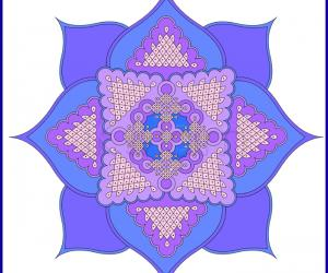 Rangoli: Blue Lotus!
