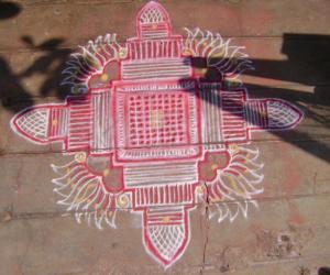 Rangoli: Pradosham kolam