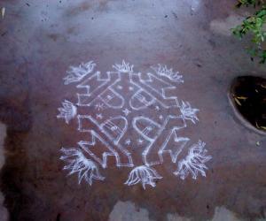 Rangoli: shiv ling