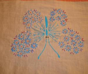 Rangoli: embroidary--Butterfly