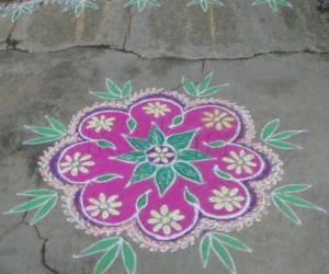 Rangoli on Ugadi