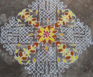 Rangoli: Chithirai Special - Sikku Kolam - 90